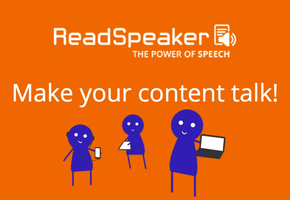 Read Speaker image, let your content talk!