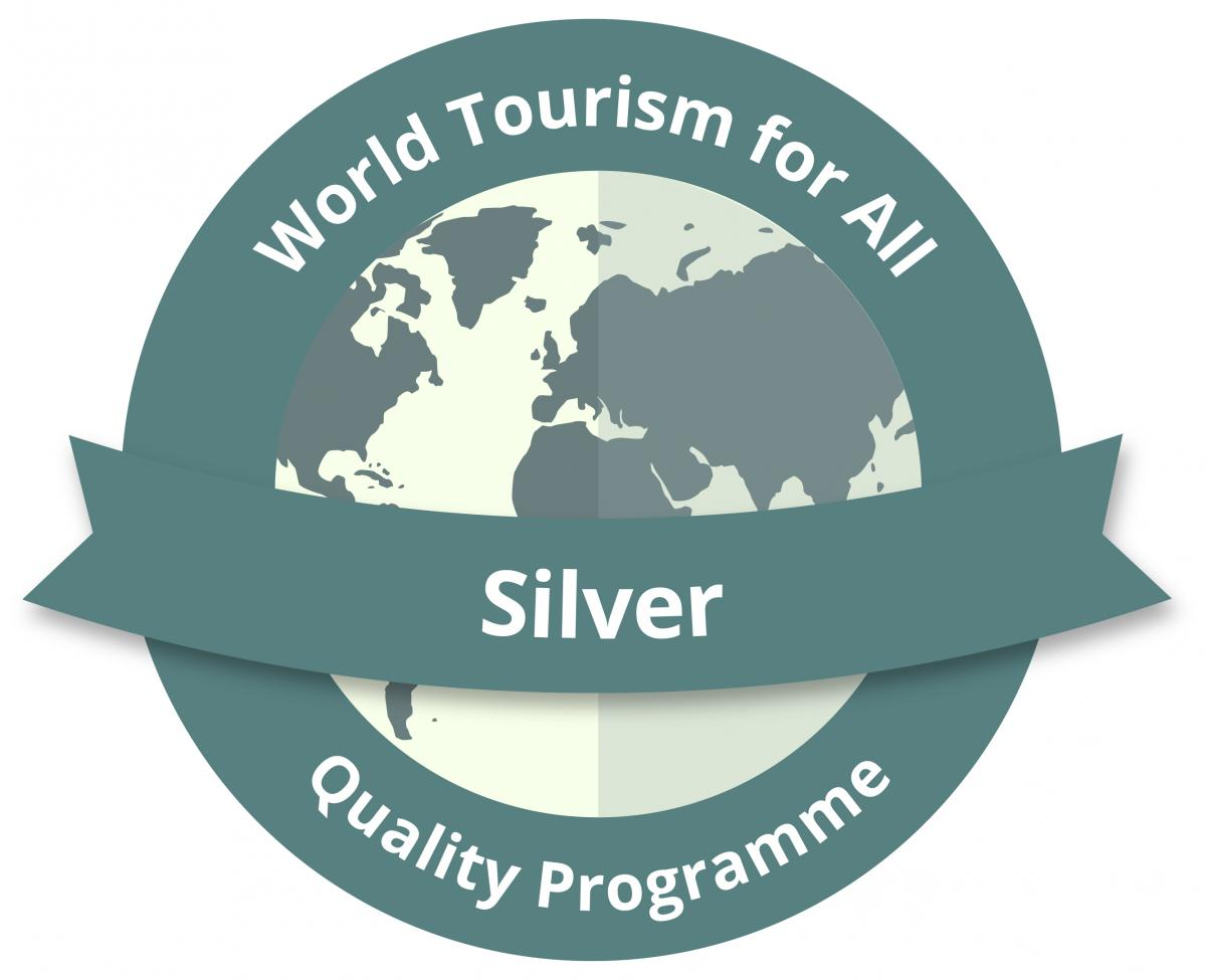 Logo of the World Tourism for All Quality Programme, Silver Accreditation