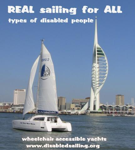 Wheelchair accessible sailing yacht called Spirit of Scott Bader