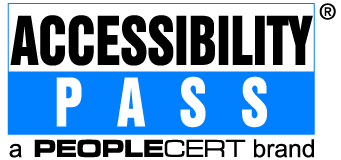 Accessibility Pass logo by PEOPLECERT