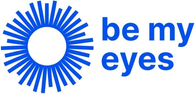 Be My Eyes blue logo