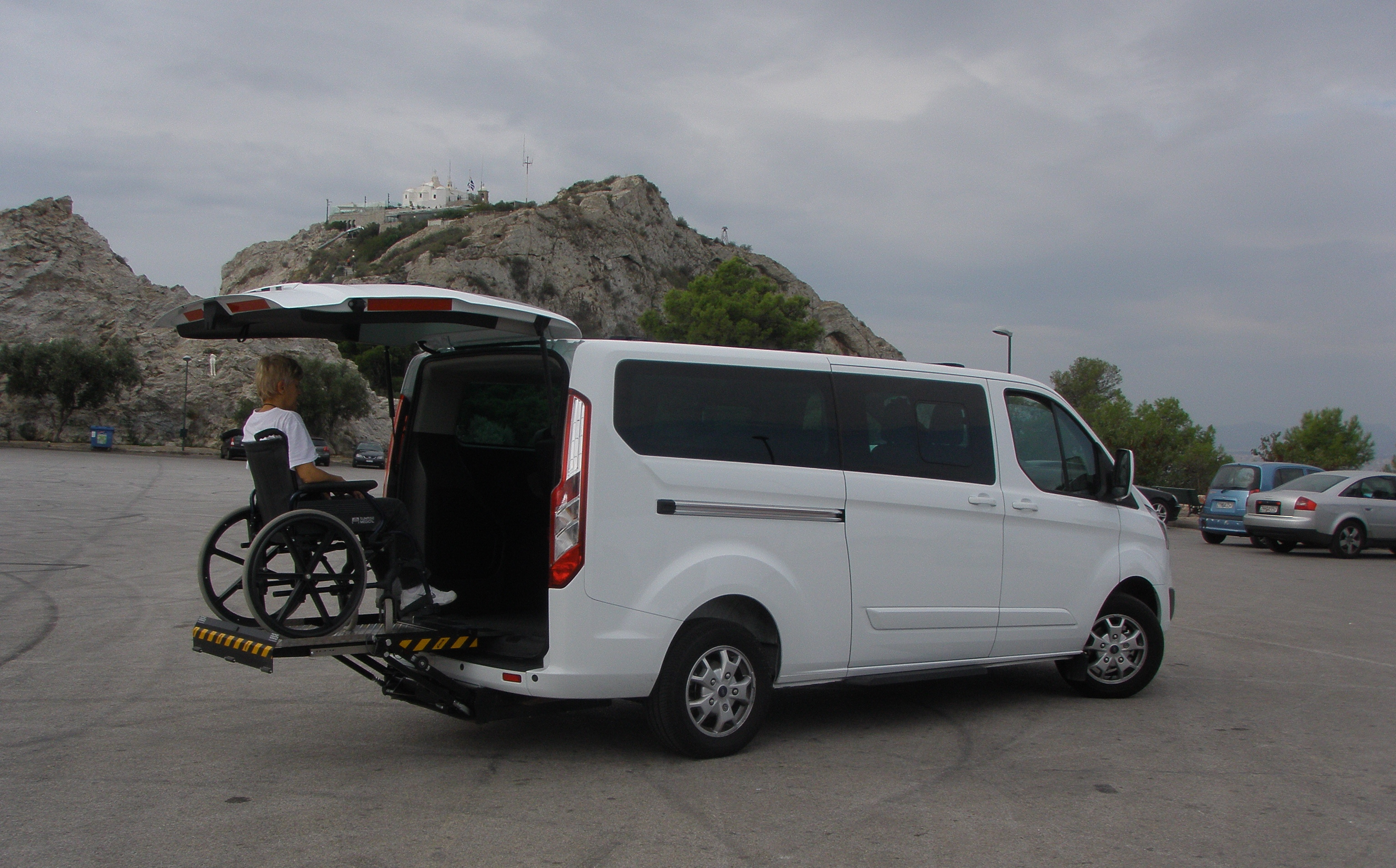 Taxi for all - accessible minivan for disabled persons