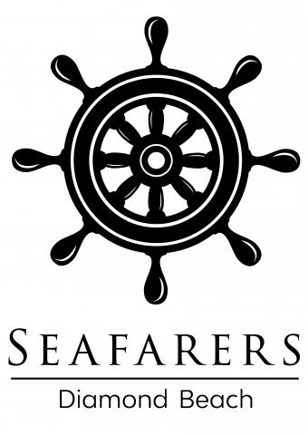 Seafarers logo with ship's wheel