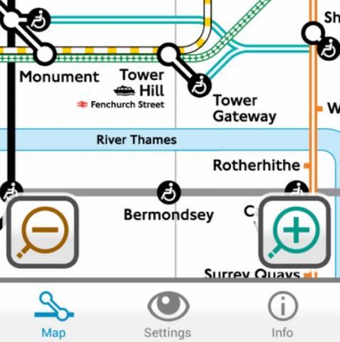 Colourblind London Tube Map