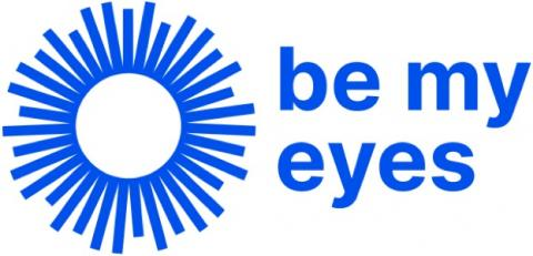 Be My Eyes blue logo