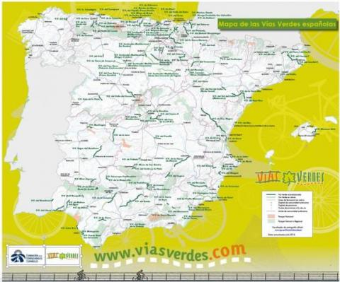 More than 2,500 km of Spanish Greenways in 120 itineraries